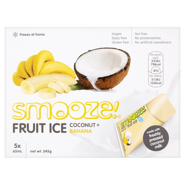 SmoozeFruit Ice Banana & Coconut 345g (Pack of 6)