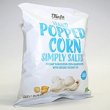 Trafo Organic Popcorn Simply Salted 50g (Pack of 6)