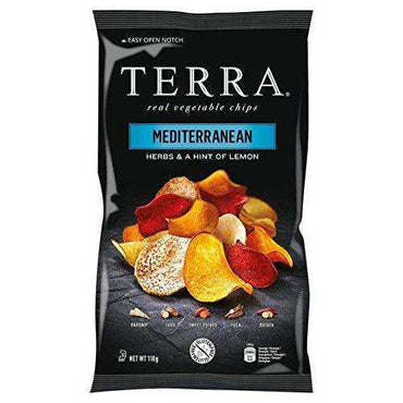 Terra Mediterranean Chips - 110g (Pack of 12)