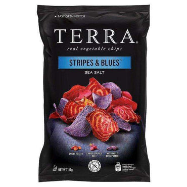 Terra Stripes & Blue Chips - 110g (Pack of 12)