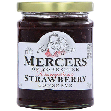 Mercers Raspberry Conserve - 340g (Pack of 6)