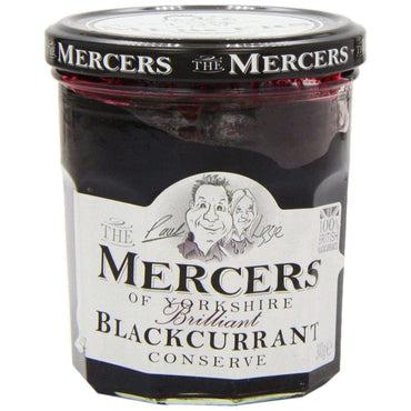 Mercers Blackcurrant Conserve - 340g (Pack of 6)