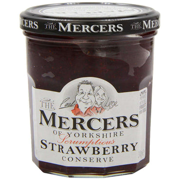 Mercers Strawberry Conserve - 340g (Pack of 6)