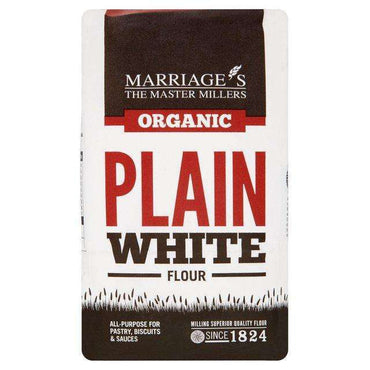 Marriages Organic Plain White Flour 1kg (Pack of 6)