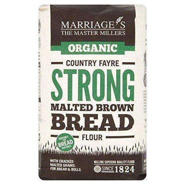 Marriages Country Fayre Strong Malt Brown Bread Flour 1kg (Pack of 6)