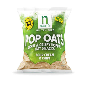 Nairns Gluten Free Sour Cream & Chive Pop Oats 20g (Pack of 7)