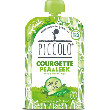 Piccolo Courgette  Pea & Leek with Mint 100g (Pack of 7)