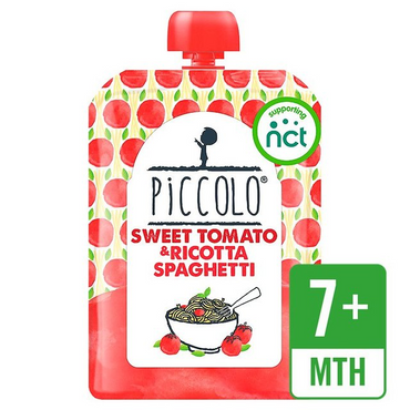 Piccolo Sweet Tomato & Ricotta Spaghetti with Basil 130g (Pack of 7)