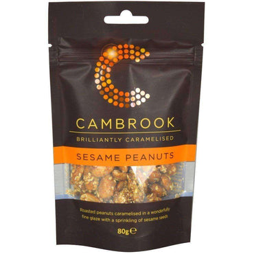 Cambrook Caramelised Sesame Peanuts - 80g (Pack of 18)