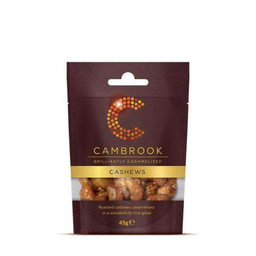 Cambrook Caramelised Cashews - 45g (Pack of 12)