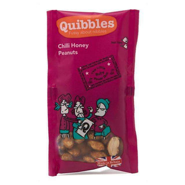 Quibbles Chilli Honey Peanuts 30g (Pack of 28)