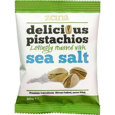 Zeina Sea Salt Pistachios - 80g (Pack of 10)