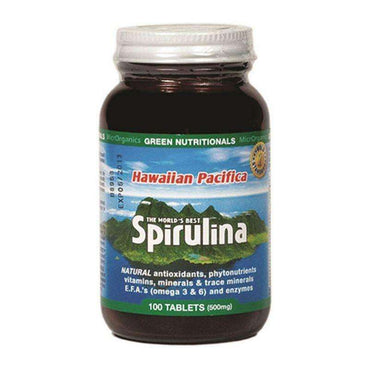 Microrganics Hawaiian Spirulina Tablets Glass 100s