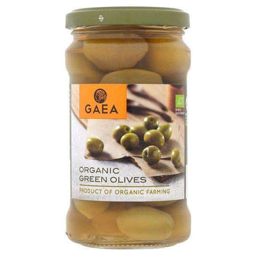 Gaea Organic Green Olives 300g