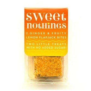 Sweet Nothings Ginger + Lemon Fruity Flapjack Bites 68g (Pack of 9)