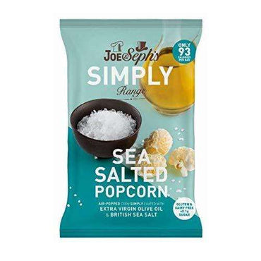 Joe & Sephs Simply Salted Popcorn - 16g (Pack of 18)