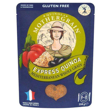 Quinola Express Quinoa Mediterranean Wholegrain 250g (Pack of 6)