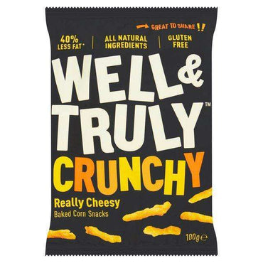 Well & Truly Crunchy Cheese Snacks - 100g (Pack of 20)