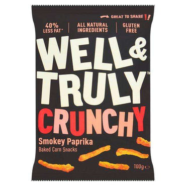 Well & Truly Crunchy Smokey Paprika Snacks - 100g (Pack of 20)
