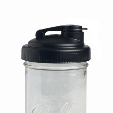 Recap Pour Mason Jar Lid - Wide Mouth Black - Single