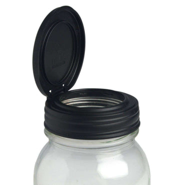 Recap Flip Mason Jar Lid - Regular Mouth Black - Single