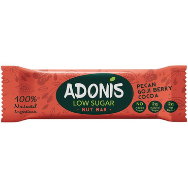 Adonis Pecan Goji and Cocoa Bar 35g (Pack of 16)
