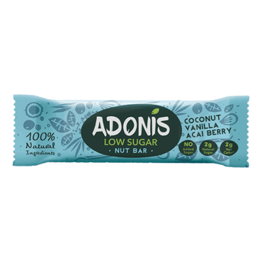Adonis Coconut Vanilla and Acai Bar 35g (Pack of 16)