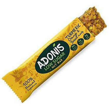 Adonis Turmeric  Orange and Brazil Nut Bar 35g (Pack of 16)
