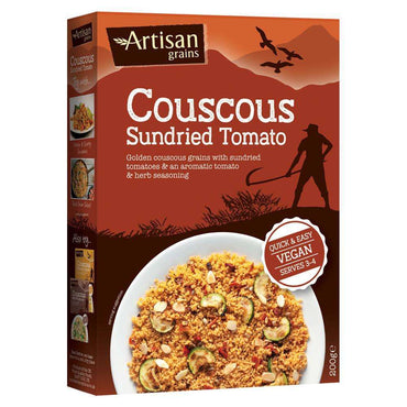 Artisan Grains Sundried Tomato Couscous 200g (Pack of 2)