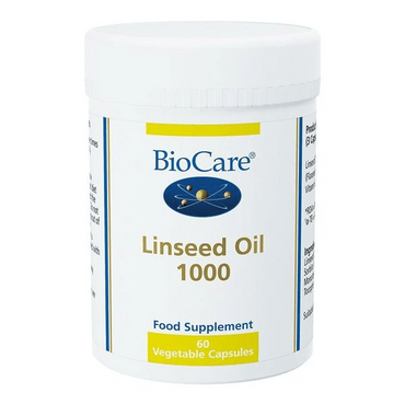 Biocare Linseed Oil 1000mg (flaxseed oil) 60 capsules
