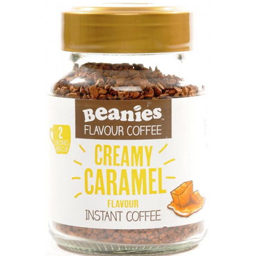Beanies Coffee Creamy Caramel Flavour Instant Coffee 50g