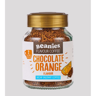 Beanies Coffee Chocolate Orange Flavour Decaffeinated Instant Coffee 50g