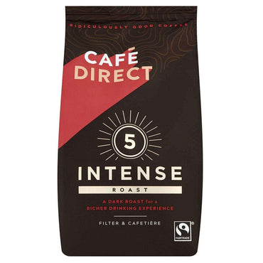 Cafedirect Intense Roast Strength 5 Fairtrade Ground Coffee 227g