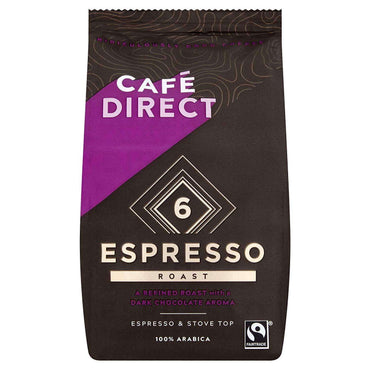 Cafedirect Espresso Roast Strength 6 Fairtrade Ground Coffee 227g