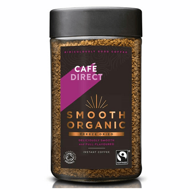 Cafedirect Smooth Organic FT Instant Freeze Dried Coffee 100g