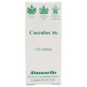 Ainsworths Cocculus 30C Single Counter Remedy 120 tabs