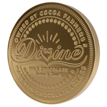 Divine Chocolate Giant Fairtrade Milk Chocolate Coin 58g (Pack of 6)