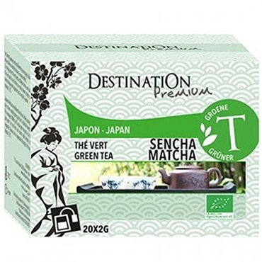 Destination Organic Jap Sencha Matcha tea 20 Sachets (Pack of 2)