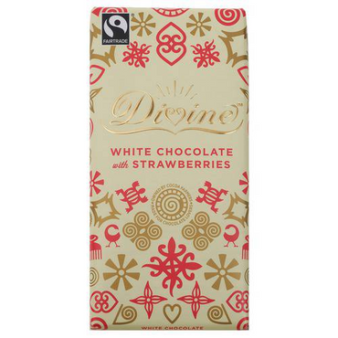 Divine Chocolate White Chocolate 100g (Pack of 3)