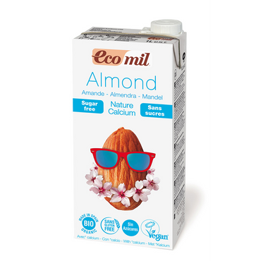 Ecomil Organic Almond No Sugar Drink with added Calcium 1 ltr