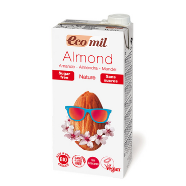 Ecomil Organic Almond Drink with no added sugar 1 ltr