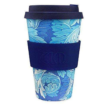 Ecoffee Cup William Morris Acanthus with Deep Blue Silicone Coffee Cup 400ml