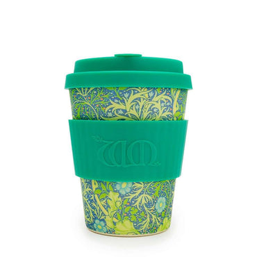 Ecoffee Cup William Morris Seaweed with Marine Silicone Coffee Cup 340ml