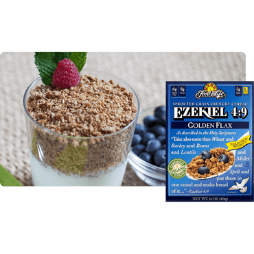 Food For Life Ezekiel Sprouted Whole Grain Cereal Golden Flax 454g