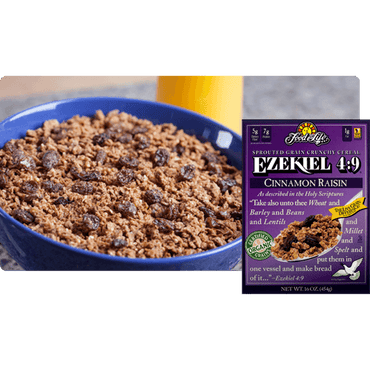 Food For Life Ezekiel Sprouted Whole Grain Cereal Cinnamon & Raisin 454g