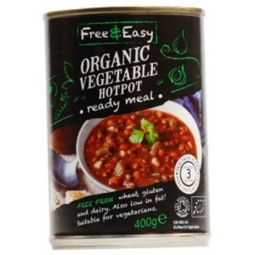 Free & Easy Organic Vegetable Hotpot Ready Meal 400g