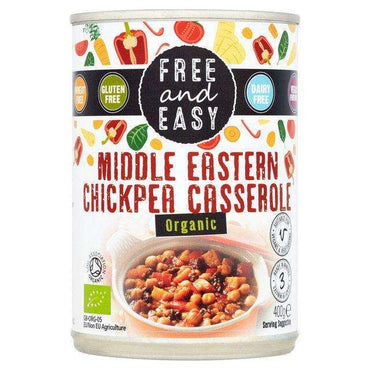 Free & Easy Organic Middle Eastern Chick Pea Casserole 400g