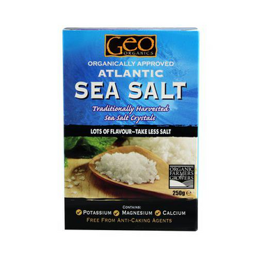 Geo Organics Organically Approved Atlantic Sea Salt - Crystals 250g