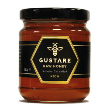 Gustare Honey Stringy Bark Mono Floral Raw Australian Honey 250g