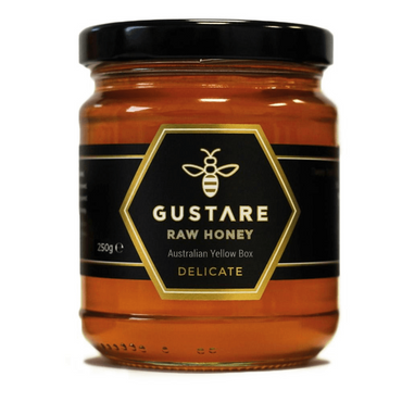 Gustare Honey Yellow Box Mono Floral Raw Australian Honey 250g